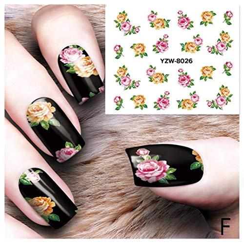 Nail Art, Nail Stickers Nail Foils Adhesive Stickers DIY Nail Applique Adhesive Flower Rattan Lace Design Nail Paste Nail Decal DIY Tips Nail Art Decoration Paste -