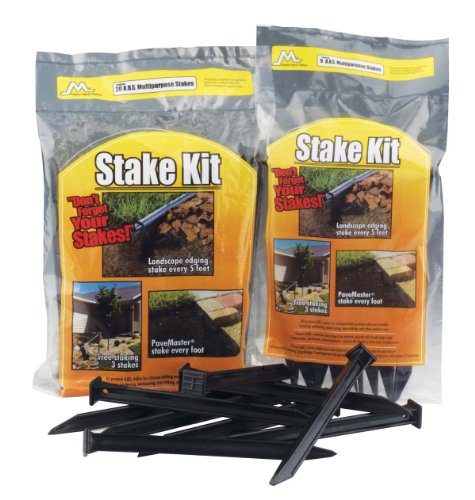 (Master Mark Plastics 12109  ABS Plastic Stake Anchors For Landscape Edging, 10 Inch 9 Pack)
