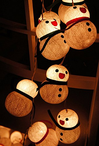 Sweet Dream w/ 1 Set Lighting String 20 Snowman String Light for Home Decoration, Christmas New Year Birthday Kids Bedroom Patio, Home Living Room Yard & Garden Indoor and Outdoor for Your Special Events and Parties (Vinyl Snowman Tablecloth)