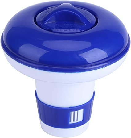 MAGT Dispensador de Cloro para Piscina, dispensador de Cloro Flotante de Calidad de PVC Azul y Blanco, dispensador de Productos químicos de bromo, Small: Amazon.es: Hogar