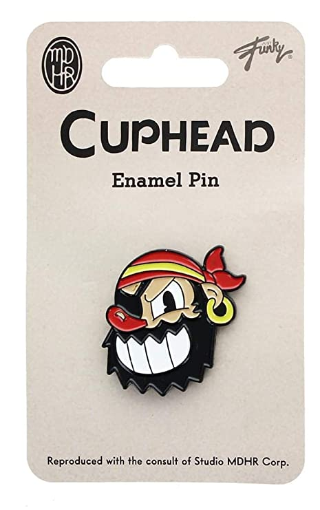 Amazon com: Cuphead Collectibles Pirate Boss Enamel Collector Pin
