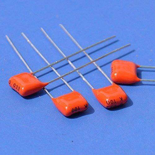 Electronics-Salon 20pcs 33nF 100V MKT Metallized Polyester Film Capacitor, 0.033uF.