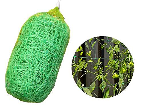 - LAVZAN 6.5Ft x 32Ft Trellis Netting with 100 Pcs Nylon Cable Ties Plant Support for Climbing Plants, Vine and Veggie Trellis Net Climbing Frame Garden Fence Net for Flower Plant Fruit (2x10)