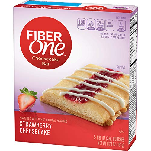 Strawberry Cheesecake Dessert - Fiber One Cheesecake Bar, Strawberry, Dessert Bar, 5 Fiber Bars, 6.75 oz