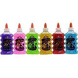 Elmer's Washable Glitter Glue, 6 oz Bottles, 6-Pack, Green/Pink/Purple/Red/Yellow/Blue