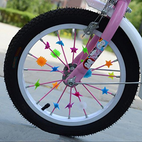 5 Kinds Of Bicycle Accessories Kid's Children Bike Scooter Bell Ring Mirror Flower Pinwheel Star Handlebar Streamers Colour Ribbons Grips Sparkle Tassel Bike Carrier Parts by ASTRQLE (Image #5)