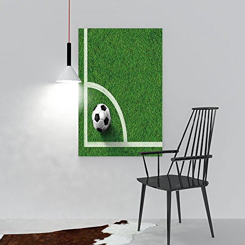 Modern Canvas Painting Wall Art Corner of soccer field image On Canvas Giclee Artwork For Wall Decor(24