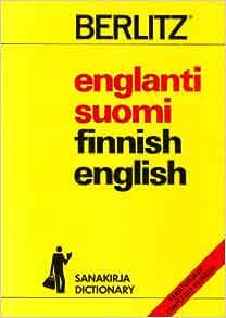 Sanakirja Englanti Suomi Englanti