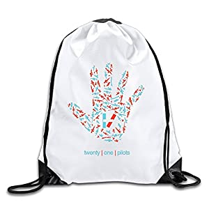 Acosoy Twenty One Pilots Drawstring Backpacks/Bags