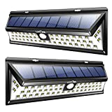 Tools & Hardware : Litom Solar Lights Outdoor 54 LED, Super Bright Wide Angle Solar Powered Light, Wireless Security Waterproof Wall Lights for Garage Patio Garden Driveway Yard RV (2 Pack)