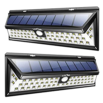 Litom Solar Lights Outdoor 54 Led Super Bright Wide Angle Solar