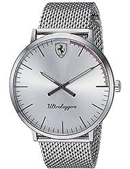 Scuderia Ferrari Men's 'ULTRALEGGERO ULTRA SLIM' Quartz Stainless Steel Casual Watch, Color:Silver-Toned (Model...