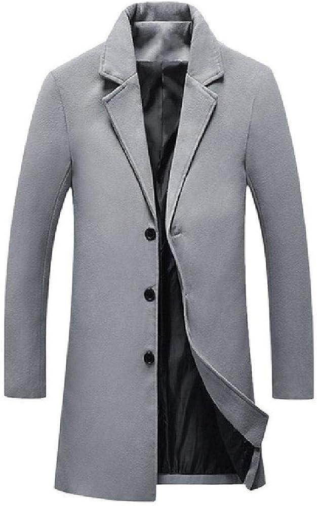 Manteau Long en Laine/pour Hommes///Automne Hiver Chaud d/écontract/é///Slim Business Pardessus m/élange de Laine Vestes///Manteau Masculin