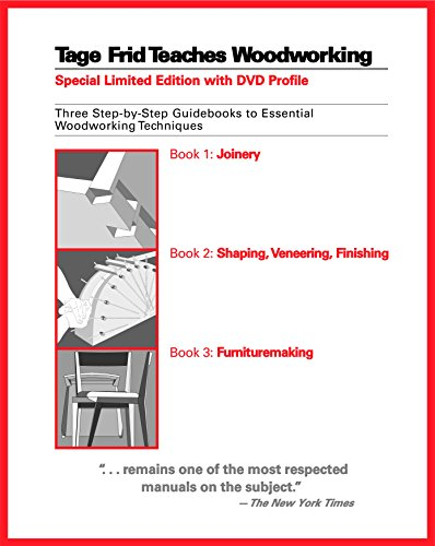 Tage Frid Teaches Woodworking: Three Step-by-Step Guidebooks to Essential Woodworking Techniques by Brand: Taunton Press