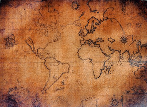 Old World Map 1 ~ Edible Wafer Paper Sheet ~ BUY TWO GET THIRD FREE!