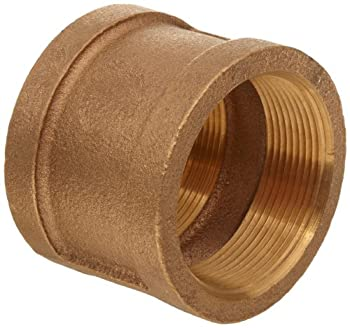 """Brass Pipe Fitting, Class 125, Coupling, 3/4"""" NPT Female"""