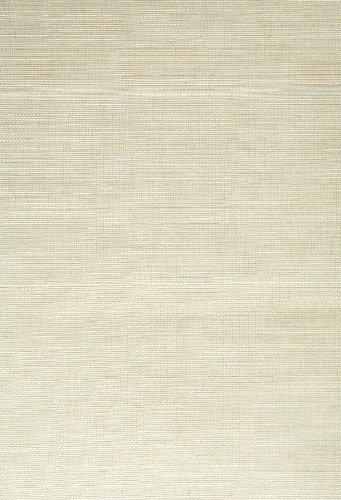 Kenneth James 63-54753 Michima Grass Cloth Wallpaper, Light - Wallpaper Green Cloth Grass