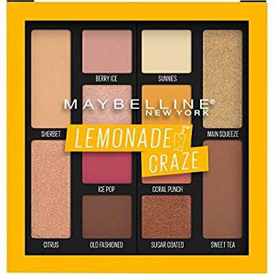 Maybelline New York Eyeshadow Palette Makeup, Lemonade Craze, 0.26 Fluid Ounce