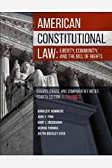 American Constitutional Law: Liberty, Community, and the Bill of Rights (Higher Education Coursebook) Paperback