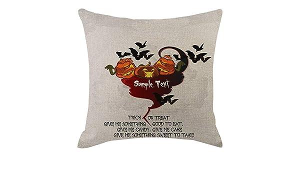 Lookhy - Funda de cojín con diseño de Calabaza de Halloween ...