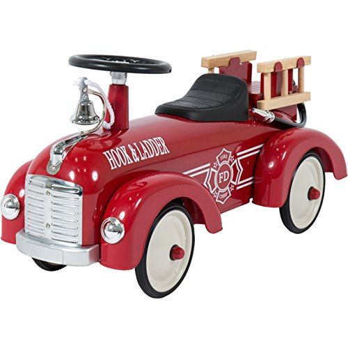 Fire Truck Riding Pedal Car (Best Choice Products Push Ride On Fire Truck Speedster Metal Car Kids Outdoor)