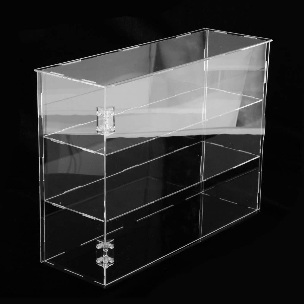 Sharplace Vitrina de Acr/ílico a Prueba de Polvo de 3 Capas para Bloques Colecci/ón de Juguetes de Ladrillos 32 x 10 x 24 cm 24x24x30cm