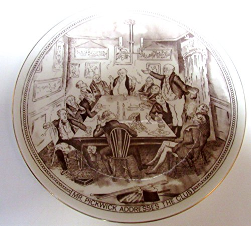 (Scenes from Dickens Collector's Plate-Mr. Pickwick Addresses the Club)