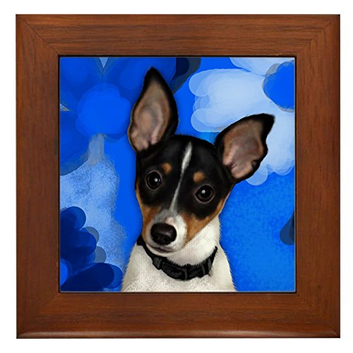 CafePress - Rat Terrier Dog - Framed Tile, Decorative Tile Wall Hanging -