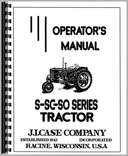 Operators Manual Case S SO SC Tractor no eagle hitch