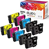 ejet 252 252XL Remanufactured Ink Cartridge Replacement for Epson 252XL T252 T252XL120 ink for Workforce WF-3640 WF-3620 WF-7210 WF-7710 WF-7720 (4 Regular Black, 2 Cyan, 2 Magenta, 2 Yellow, 10-Pack)