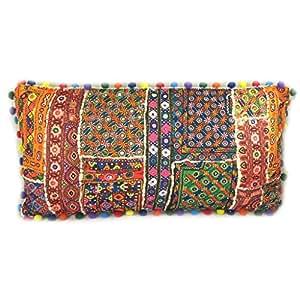 Cojín étnico Bohonaranja multicolor (patchwork)- 60x32 cm ...