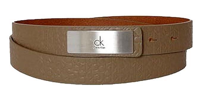 Calvin Klein Ceinture femme logo pattern brown  Amazon.fr  Vêtements et  accessoires 76e6cf06b49