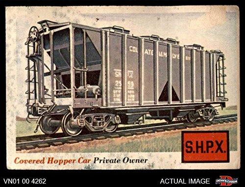 1955 Topps Rails & Sails # 2 Covered Hopper Car (Card) Dean's Cards 1 - POOR - 2 Hopper Rail