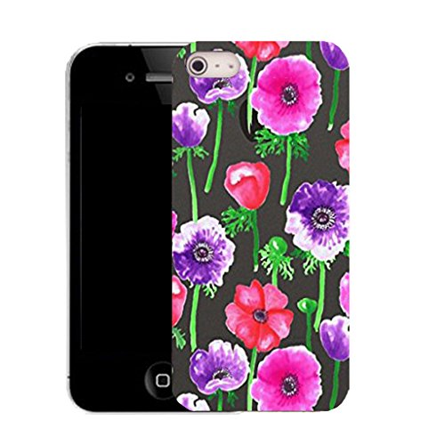 Mobile Case Mate IPhone 5S clip on Silicone Coque couverture case cover Pare-chocs + STYLET - populous poppy pattern (SILICON)