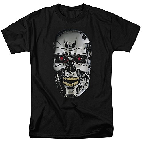 Unisex Terminator T-800 Skull Adult T-Shirt - S to 3XL