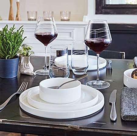 Crisal d'Arques P0858 (ECLAT) - Estuche de 4 copas de vino (38 cl-ABSTRACTION-LUMINARC, 380 mililiters