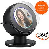 Premium Stand for Echo Spot. Convenient 360 Degree Rotation with Smooth Precision Ball Bearings. Screen Protector. Sturdy with Non-Scratch Surface. by andCOLORS. (Black)