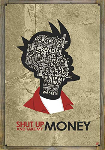 Northwest Art Mall Fry, Shut UP and TAKE My Money Metal Print on Reclaimed Barn Wood by Stephen Poon (24