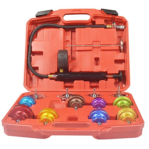 14pcs Radiator Cap Water Tank Pressure Tester Universal Cooling System Tools - Cooling Saab System
