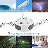 ARTIFUN White Noise Machine, Portable Sleep Therapy for Home, Office,Bedroom,Baby & Travel,9 Natural Smoothing and Relaxing Sounds,3 Timer,USB or Battery Powered