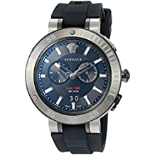 Versace Men's ' V-Extreme PRO Swiss Quartz Stainless Steel and Silicone Casual Watch, Color:Black (Model: VCN020017