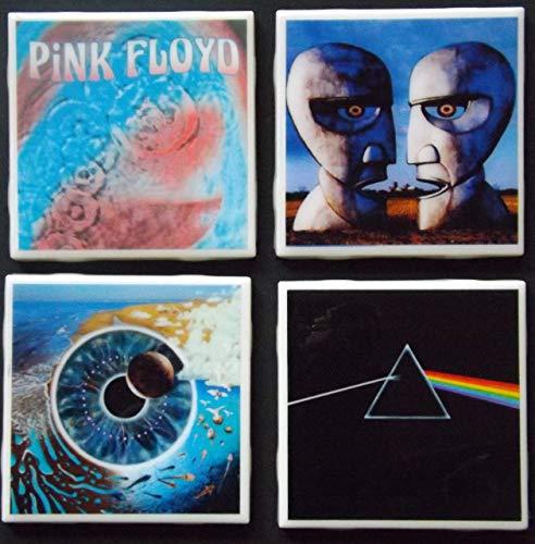 (Set of four Pink Floyd Album Art Ceramic Coasters)