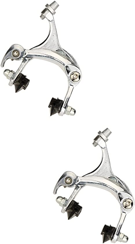ONE BICYCLE Bike SIDE PULL CALIPER BRAKE SET FITS FRONT OR REAR BLACK NEW