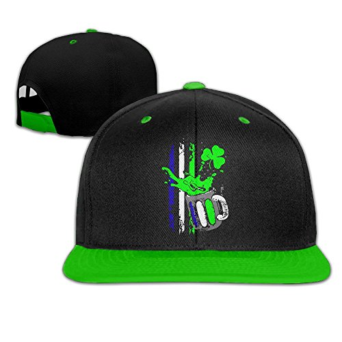 St Patrick Day Beer Flag Unisex Hiphop Flatbrim Snapback Caps Plain Cotton Baseball Cap Hats for Men Import Beer Girl Costume