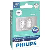 Philips 168 Ultinon LED Bulb (White), 2 Pack