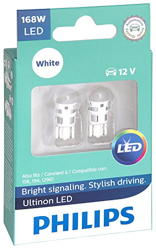 (Philips 168 Ultinon LED Bulb (White), 2 Pack)
