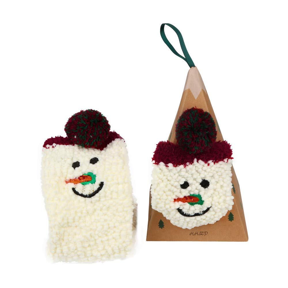 Pausseo Women Ladies Adult Cartoon Christmas Socks Coral Velvet Embroidery Winter Female Sock Soft Comfortable Skateboard Cotton Sweat Deodorant Anti-Slip Girls Bed Sleep Skateboard Casual Sock