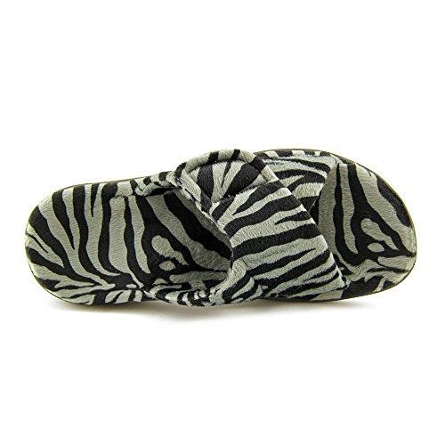 Orthaheel - Zapatillas de estar por casa para mujer Dark Grey Zebra 4