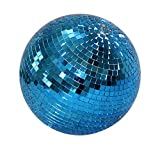 10 Inch Glass Mirror Ball, Blue
