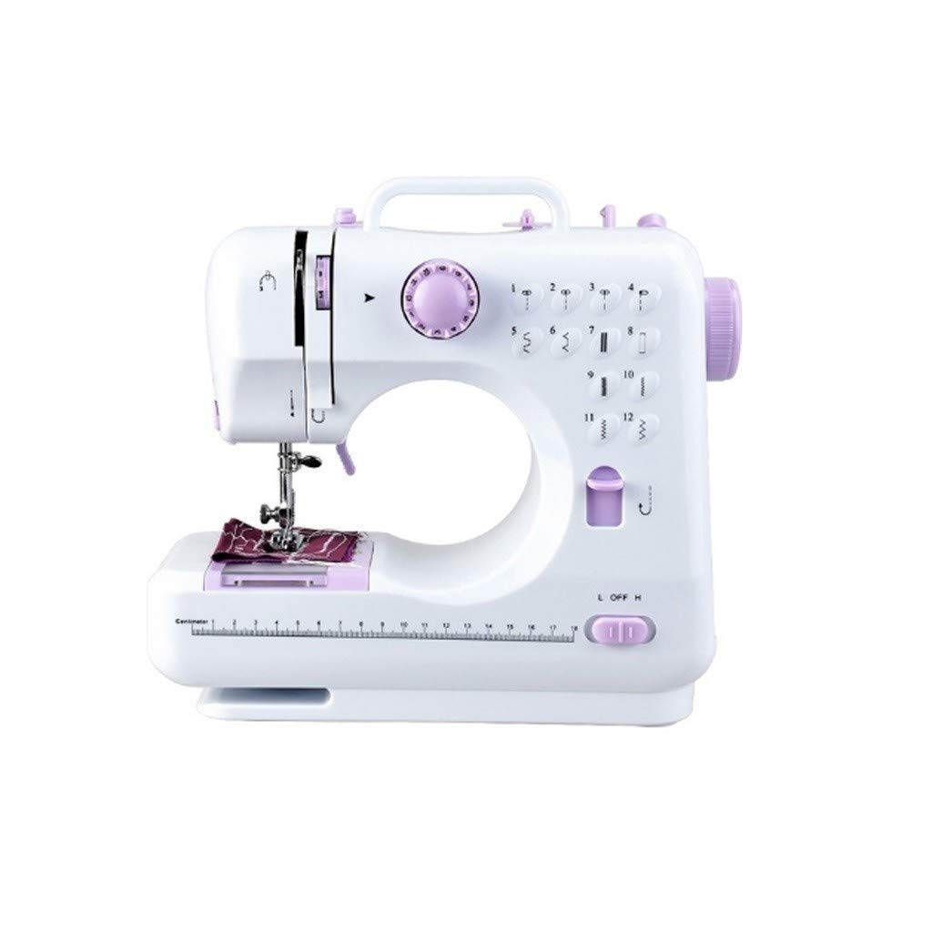 JLL Portable Sewing Machine 2 Speed 12 Stitches Double Thread Needle Mini Sewing Machine by JLL